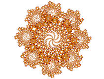 Butterfly fractal on white background Stock Photo
