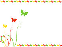 Butterfly frame. Colorful butterfly frame, greeting card design Stock Images
