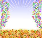Butterfly frame background Stock Photos