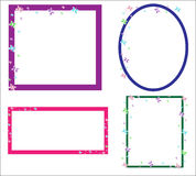 Butterfly frames Stock Images