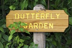 Butterfly Garden Sign Stock Photo