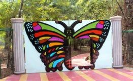 Butterfly gateway Stock Photo