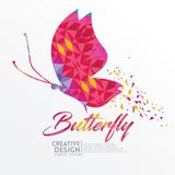 Butterfly Geometric paper craft style royalty free illustration