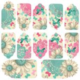 Butterfly Gift Tags Collection Stock Photos