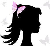 Butterfly gir Royalty Free Stock Photos