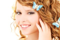 Butterfly girl Stock Photos