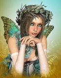 Butterfly Girl Royalty Free Stock Photos
