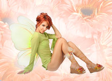 Butterfly-girl Royalty Free Stock Photo