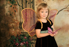 Butterfly Girl Portrait Royalty Free Stock Images