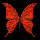 Butterfly with golden spirals. Decor Stock Photos