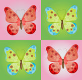 Butterfly. With green and red background Stock Image