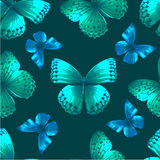 Butterfly 05 green Stock Images