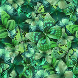 Butterfly green 01. Seamless pattern with butterflies, vector illustration, clip-art royalty free illustration