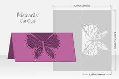 Butterfly greeting card laser cutting. Silhouette design. Stock Image