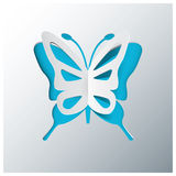 Butterfly Greeting Card With Origami Paper Style Vector Royalty Free Stock Photo