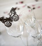 Butterfly groom place setting Stock Photo