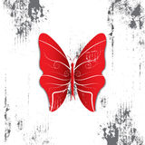 Butterfly with grunge background Royalty Free Stock Photo