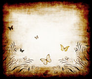 Butterfly grunge paper Stock Photography