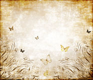 Butterfly grunge paper texture Royalty Free Stock Photos