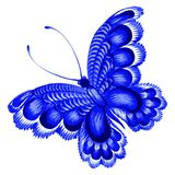 Butterfly. Hand drawn, , illustration in Ukrainian folk style Stock Photography