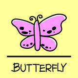 Butterfly hand-drawn style. Bird hand-drawn style,drawing,hand drawn, illustration Stock Image