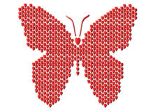 Butterfly of harts Royalty Free Stock Image