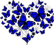 Butterfly Heart. An illustration of butterflies that form a heart shape Stock Images