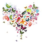 Butterfly heart Royalty Free Stock Photo