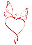 Butterfly heart stock images