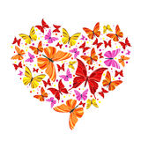 Butterfly heart. Romantic postcard with butterfly heart Royalty Free Stock Photos