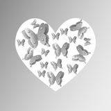 Butterfly Heart Stock Photos