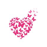 Butterfly heart. Butterfly and heart logo design Stock Image