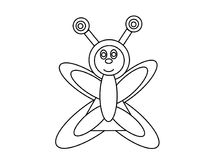 Butterfly high quality kids coloring pages Stock Photo