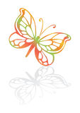 Butterfly icon. Butterfly with rainbow trail,  illustration Royalty Free Stock Photos