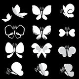Butterfly icon Royalty Free Stock Photos