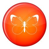 Butterfly icon, flat style Royalty Free Stock Photos