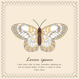 Butterfly Icon. Flyer or postcard.  Vector illustration Royalty Free Stock Image