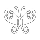 Butterfly icon, outline style Stock Photo