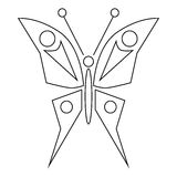 Butterfly icon, outline style Stock Images