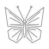 Butterfly icon, outline style Royalty Free Stock Image