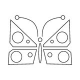 Butterfly icon, outline style Royalty Free Stock Photos