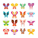 Butterfly icon set Stock Photo