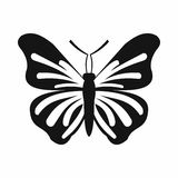 Butterfly icon, simple style Stock Photos