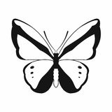 Butterfly icon, simple style Stock Images