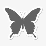 Butterfly icon sticker. Vector icon Royalty Free Stock Photo