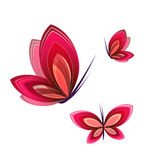 Butterfly icon. Stock Images