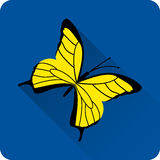 Butterfly icon. Vector. Royalty Free Stock Images