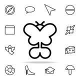 Butterfly icon. web icons universal set for web and mobile. On white background royalty free illustration