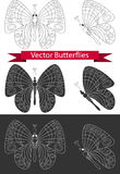 Butterfly icons. Stock Photography