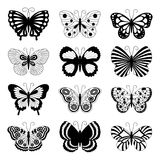 Butterfly icons Royalty Free Stock Photos